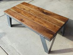 Vintage Industrial Coffee Table. Modern Industrial, Rustic, Retro, Urban, Mid Century Modern Design Furniture. $450.00, via Etsy.