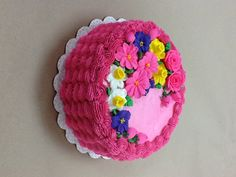 Filomena Julson made this spectacular basket weave cake in Course 2 - Flowers and Cake Design at AC Moore in Davie, FL