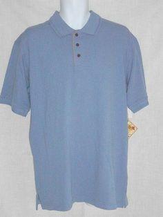 Caribbean Joe Men's Polo Golf Shirt S Blue NEW #CaribbeanJoe #PoloShirt