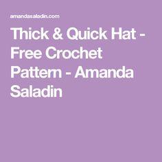 Thick & Quick Hat - Free Crochet Pattern - Amanda Saladin