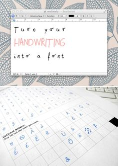 DIY-Anleitung: So macht Ihr eine Schriftart aus Eurer Handschrift // diy tutorial: create a font out of your handwriting, cool DIY idea for handlettering fans via DaWanda.com
