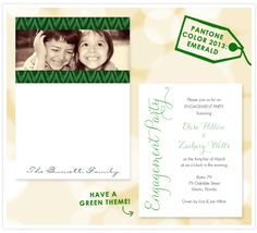Emerald notepad and invitations #coloroftheyear