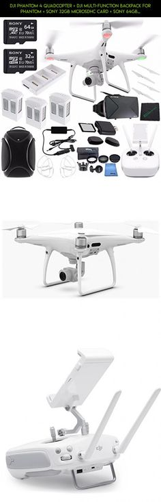 DJI Phantom 4 Quadcopter + DJI Multi-Function Backpack for Phantom + Sony 32GB microSDHC Card + Sony 64GB microSDXC Card + Card Reader + Cloth + DJI Battery Charging Hub + DJI Car Charger Bundle #dji #racing #shopping #parts #3 #tech #phantom #sd #gadgets #plans #technology #camera #drone #products #kit #standard #card #fpv