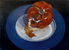"""Old Tomato - Oil paint on canvas, 18"""" x 24"""" by Mark Granlund"""