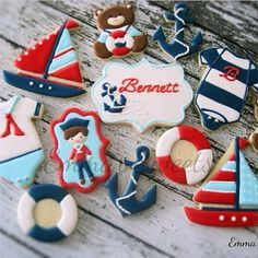 Nautical Cookies by Emma's Sweets