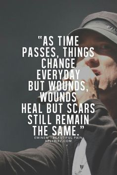 """Eminem-""""Beautiful Pain"""" I have a lot of respect for Eminem. Yes, some of his lyrics are quite disturbing. But he has a lot of songs-like this one- that are really very emotional. Eminem Lyrics, Eminem Rap, Eminem Quotes, Rap Quotes, Lyric Quotes, Song Lyrics, Life Quotes, Hero Quotes, Tattoo Quotes"""