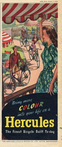 vintage Hercules bicycle ad