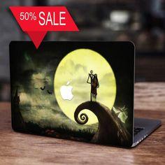 Jack and Sally, Jack Skellington, Jack Skellington Decal, Jack Skellington Sticker, Nightmare Before Christmas Decal, MacBook Pro, Gift