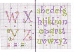 Ricami e schemi a Punto Croce gratuiti: Cross stitch baby- alfabeti a punto croce per bambini