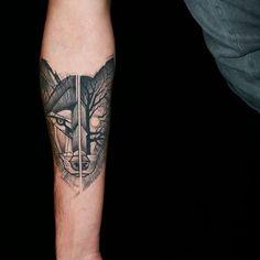 Healed wolf almost a year!  Done @dildotattoostudio  #wolf #wolftattoo #animaltattoo #forest #darkness #tattoo #handtattoo #tattooink #inked #tattooed #tatt #tattooing #tattoostyle #tattoodo #tattooart #tattoolife #tattoodesign #athenstattoo #dildotattoostudio #alexthejem #sunskintattoo