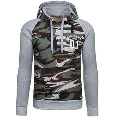 Men's Army Camo Camouflage Hooded Sportswear