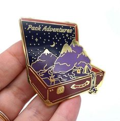 Pack adventures suitcase – beautiful gold detailed pin for the true traveler. Big inspirational pin for your hat/clothes/bags. *Pay attention - its a relatively large pin - inches Jacket Pins, Doja Cat, Cool Pins, Metal Pins, Pin And Patches, Pin Badges, Lapel Pins, Brooch Pin, Felt Brooch