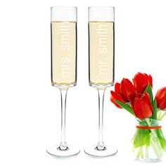 Contemporary Personalized Wedding Champagne Flutes Sethttp://partyblock.stores.yahoo.net/cocuchfl.html