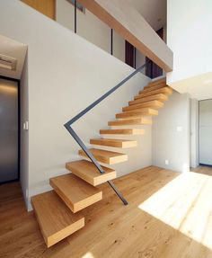 Stair railing ideas - A full directory of interior stair railing ideas, the correct component to utilize according to your stairs Stair Railing Design, Home Stairs Design, Stair Decor, Interior Stairs, Modern House Design, Villa Design, Staircase Decoration, Staircase Design Modern, Diy Stair