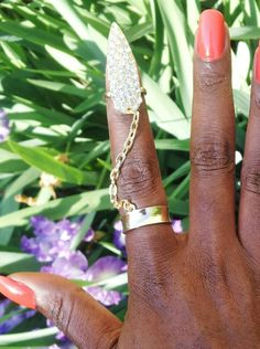 THE FINGER... Available in silver and gold. Get yours online at www.fabfrosting.com. #putaringonit