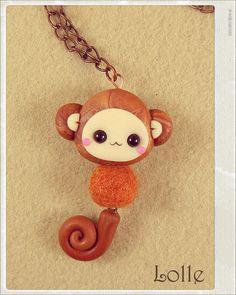 Clay Flurry Monkey by LolleBijoux.deviantart.com on @deviantART