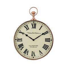 Polished Copper Wall Clock 8984-014