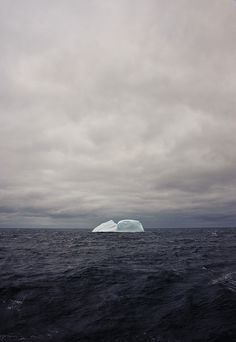 the #iceberg by oliver.dodd, via Flickr #ocean #cold #sea #water #dark