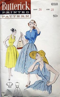 1950S Butterick Pattern