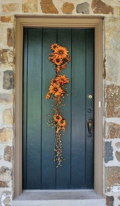 Autumn Sun  Sunflower and Bittersweet Garland by WillowgaleDesigns, $39.99