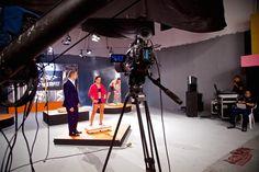 Filmando comercial en el foro A de Verdeespina Studios con la cámara Sony F3.