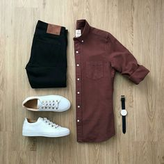 The outfit is never complete without a pair of sneakers and a bold shirt !  Mens Fashion ideas | Mens Fashion Flatlay | Mens Flatlays | Mens Outfit ideas | What to wear to office Men | @mrjunho3