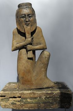 grave guard with mask (guest at RMO from british museum) | by koopmanrob
