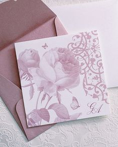Beautiful #floral_wedding_invitations. See more here http://www.love4wed.com/floral-invites-atelier-invitations/