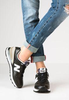 10c54405cde51 New Balance WL574 - Tenisówki i Trampki - black/grey - Zalando.pl Nike
