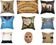 Awesome Horror Pillows! Ouija Board, Jason Friday 13th, Chucky, True Blood, Evil Dead, Horror Hotel n Exorcist!