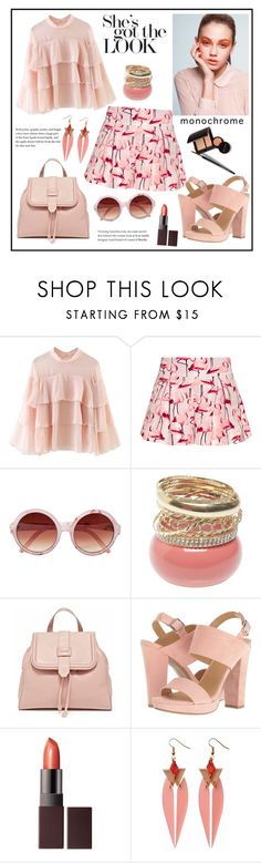 """""""Pink!"""" by diane1234 ❤ liked on Polyvore featuring WithChic, RED Valentino, Mor, Laura Mercier, Wet Seal, Report and Toolally"""