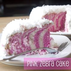Pink Zebra Cake.....perfect for serving at a party or just making it for dessert at home...yummm....and it's so pretty !!
