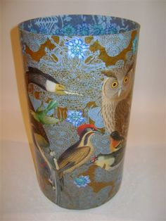 Bowls and Platters - Decoupage Artist Jill Barnes-Dacey Decoupage Glass, Decoupage Furniture, Decoupage Art, Decoupage Ideas, Clear Glass Plates, Diy And Crafts, Arts And Crafts, Wood Burning Art, Crafty Craft