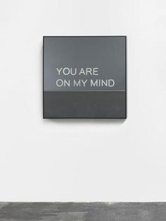 Jeppe Hein  would be better if was writing on the wall graffiti