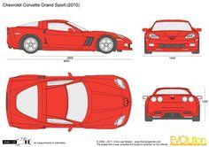 Chevrolet Corvette Grand Sport Corvette Grand Sport, Ferrari F430, Car Vector, Chevrolet Corvette, Corvette Cake, Car Sketch, Car Drawings, Nissan Skyline, Disney Cars