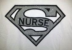 Super Nurse Glitter Bling Shirt by BlingNInk on Etsy