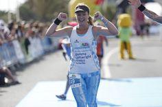 Gemma Cartwright during the Lanzarote International Marathon 2015! #4Parkinson