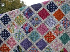 "charm pack quilt paterns | Amy Smart has a great charm square tutorial called ""Baby Lattice Quilt ..."