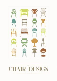 Designer chairs - poster