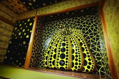 I Carry on Living with the Pumpkins 2013 Yayoi Kusama, Painted Pumpkins, Japanese Artists, Mind Blown, Interior Architecture, Interior Design, Sculpture Art, Animal Print Rug, Modern Art