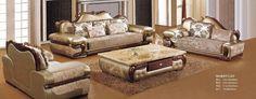 Europe Style Sofa Set Top Grade Cow Genuine Leather