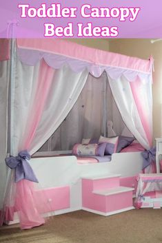 Pink and Purple Canopy Bed Ideas for Girls