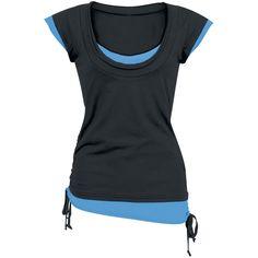 """""""Double Layer"""" Shirt   Pfiffiges Raw Edge Shirt im Vintage-Style, das durch die Schnürungen an den Seiten individuell angepasst werden kann."""