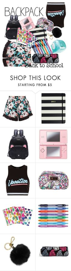 """""""Back to School// Backpack"""" by april-diamond ❤ liked on Polyvore featuring New Look, Kate Spade, Nintendo, Tokidoki, Paper Mate, MICHAEL Michael Kors, Vera Bradley, backpack and inmybackpack"""