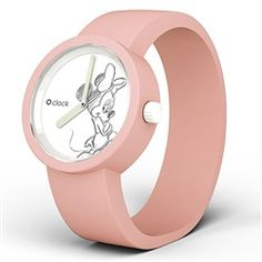O clock watch - Disney - Minnie dial with powder pink strap O Bag, Powder Pink, Face Powder, Trendy Watches, Oclock, Hair Jewelry, Swatch, Disney, Accessories