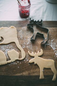 Moose/Elk Christmas cookies.