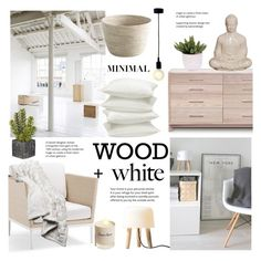 """""""Wood and White ~ Minimal accents"""" by alexandrazeres ❤ liked on Polyvore featuring interior, interiors, interior design, home, home decor, interior decorating, &Tradition, Copeland Furniture, Frontgate and Lux-Art Silks"""