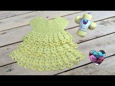 Robe volants: tutoriel au crochet, gratuit présenté par Lidia Crochet Tricot