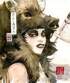 Atalanta-Year of the Boar by ~D-pi on deviantART