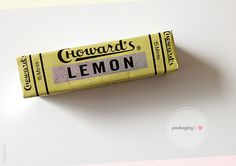 Choward's Lemon Mints, candies with  charming wrappers.